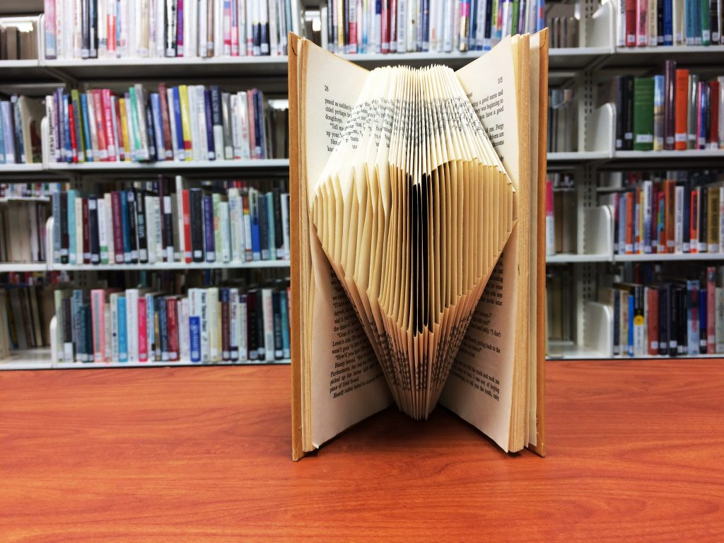 Make & Take: Heart Book Folding Project Scheduled for February 7.