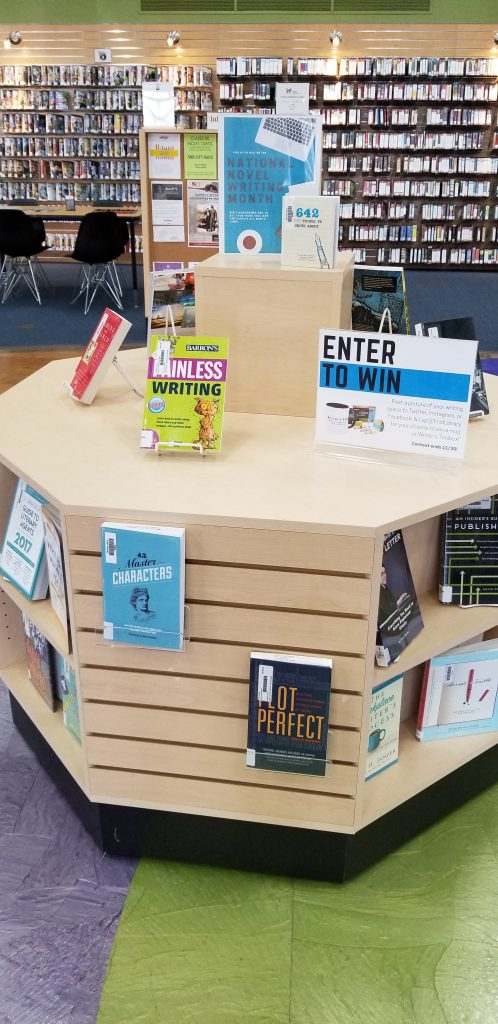 National Novel Writing Month Display