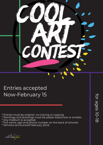 Cool Art Contest Flyer