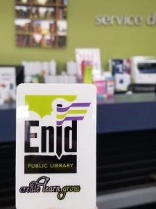 enid public library card