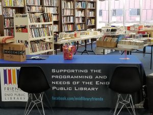 friends of the library tablecloth
