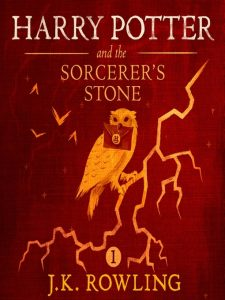 red cover with owl sitting on lightning