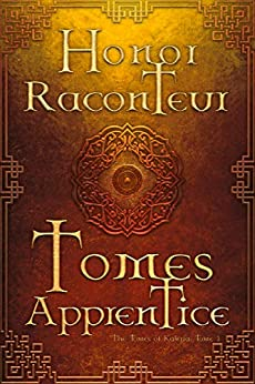 cover of tomes apprentice. brown backdrop with runes