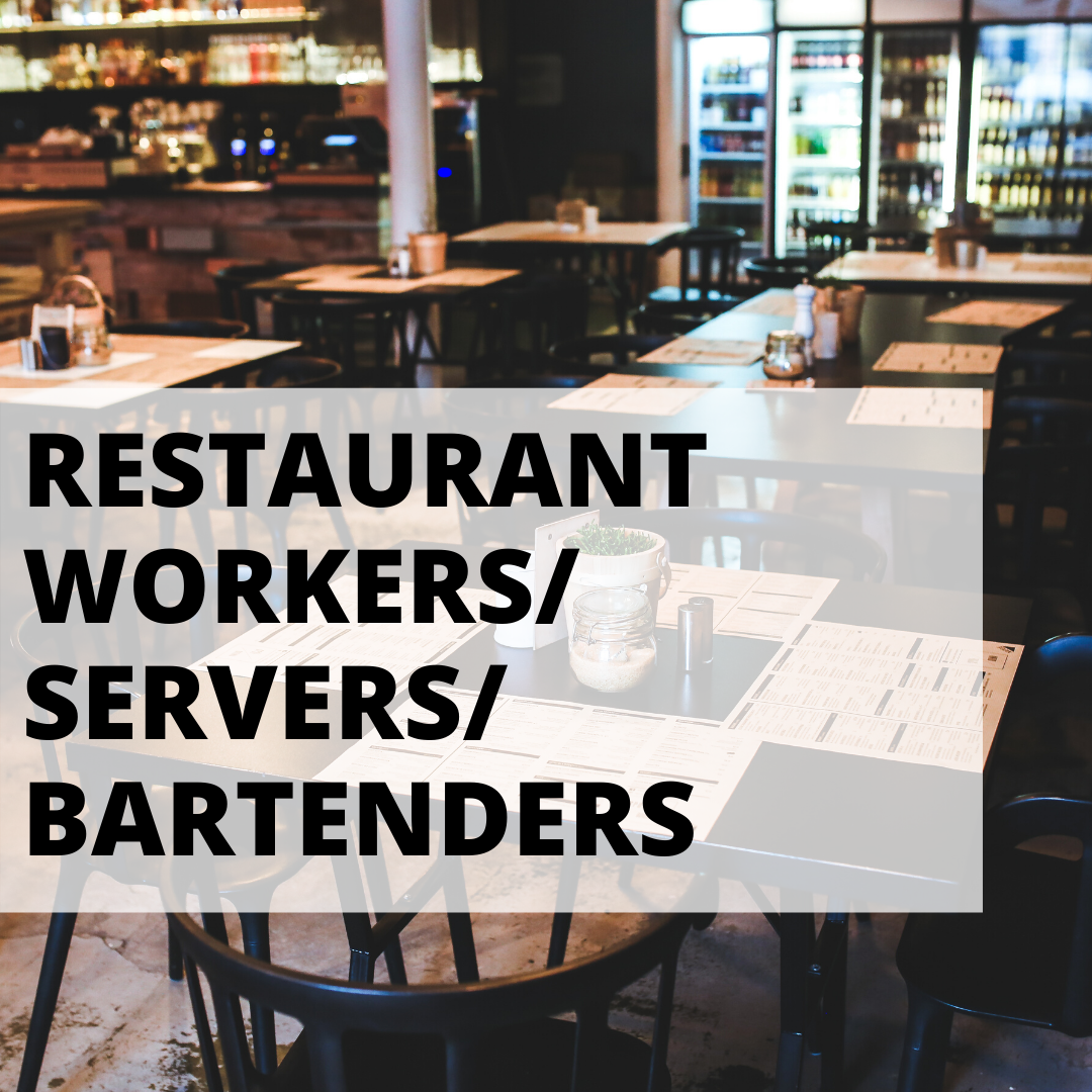 restaurant workers, servers, & bartender resources