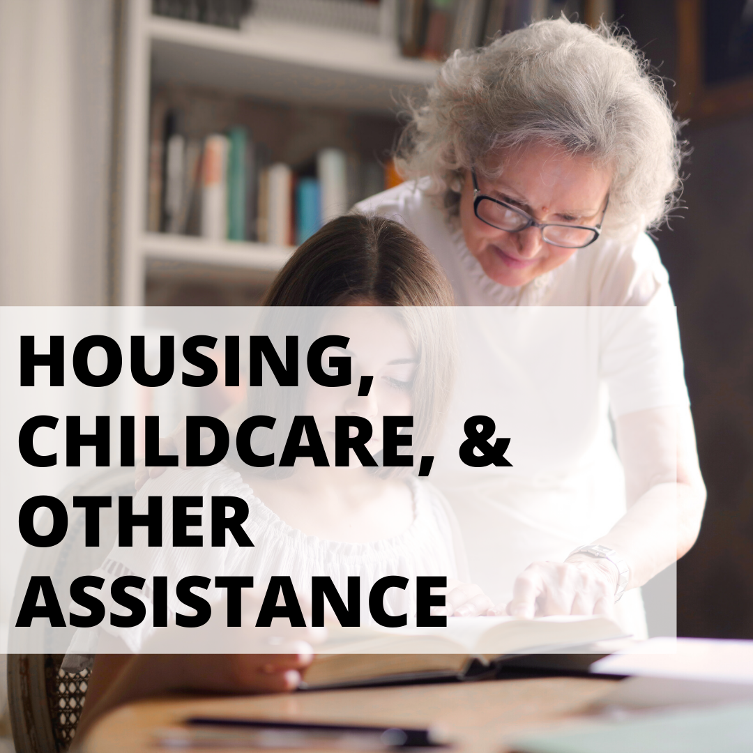 housing, childcare, other assistance with older woman helping younger woman