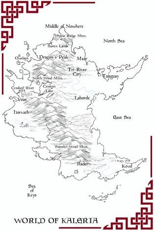 map of Kaleria