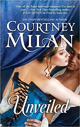 white woman in blue corset embracing white man