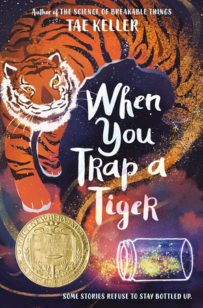 cover with tiger and tipped over jar